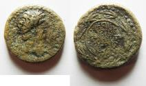 Ancient Coins - Agrippa II under Nero. AE 20. Founding of Neronias.