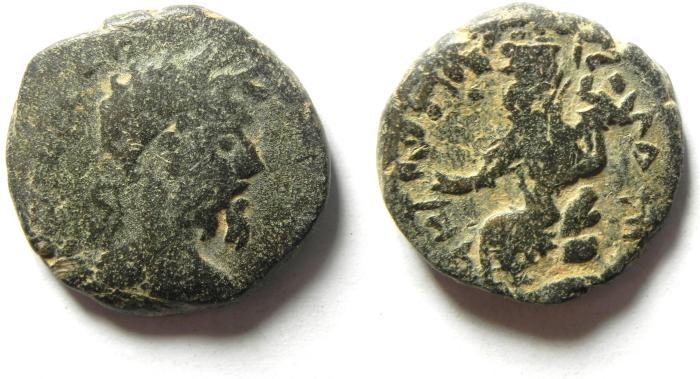 Ancient Coins - ARABIA , PETRA , SEPTIMIUS SEVERUS , ATTRACTIVE AE 22