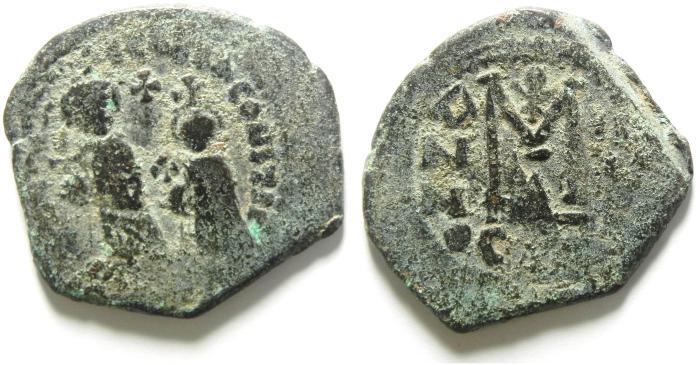 Ancient Coins - BYZANTINE : HERACLIUS FOLLIS , NICE