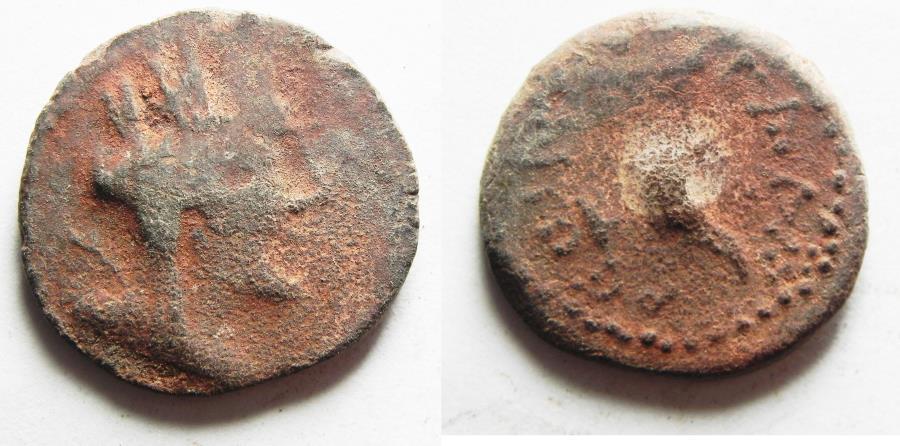 Ancient Coins - DECAPOLIS, Gadara. Autonomous issues. 1st century BC. Æ 19