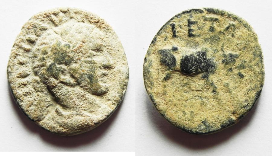 Ancient Coins - ORIGINAL DESERT PATINA. ARABIA. PETRA. ELAGABALUS AE 20