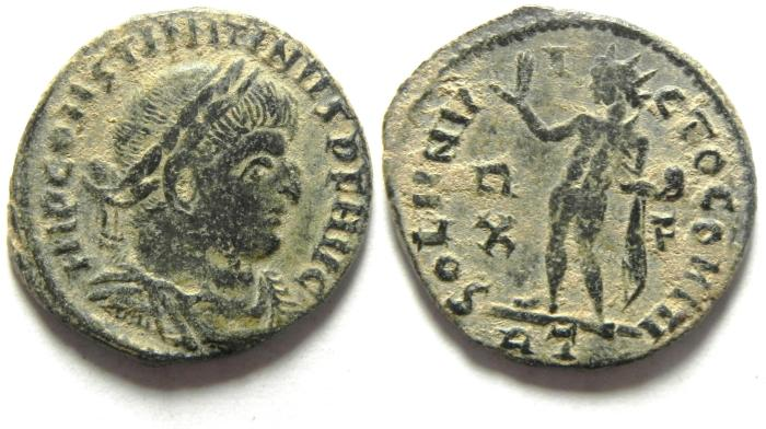 Ancient Coins - CONSTANTINE I AE FOLLIS , NICE