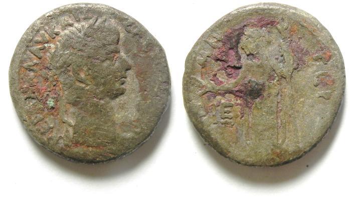 Ancient Coins -  EGYPT , ALEXANDRIA , NERO BILLON TETRADRACHM