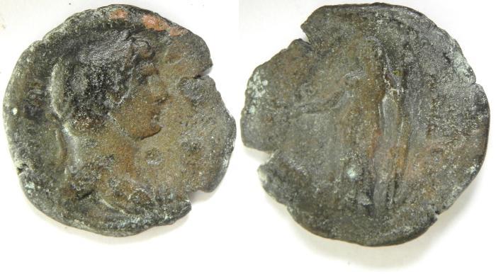 Ancient Coins -   EGYPT , ALEXANDRIA, HADRIAN AE DIOBOL
