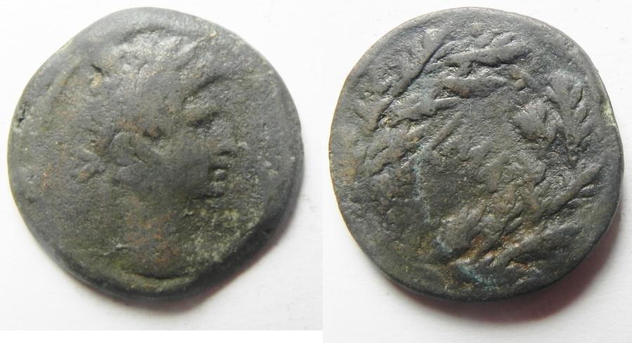 Ancient Coins - Egypt. Alexandria under Augustus (27 BC-AD 14). AE diobol (22mm , 6.95g). Struck in regnal year 41 (AD 10/11).