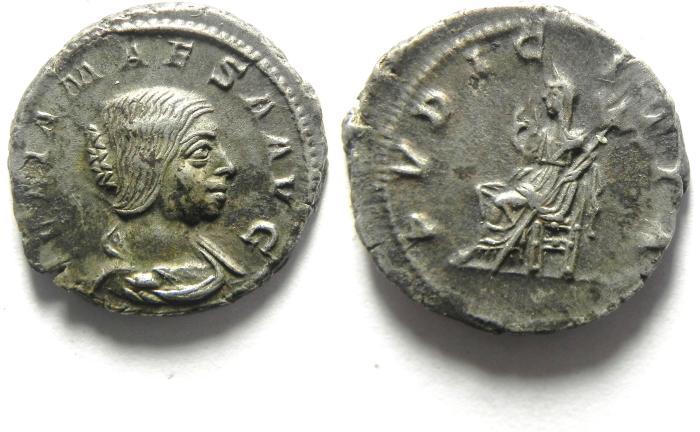 Ancient Coins - JULIA MAESA SILVER DENARIUS, CHOICE