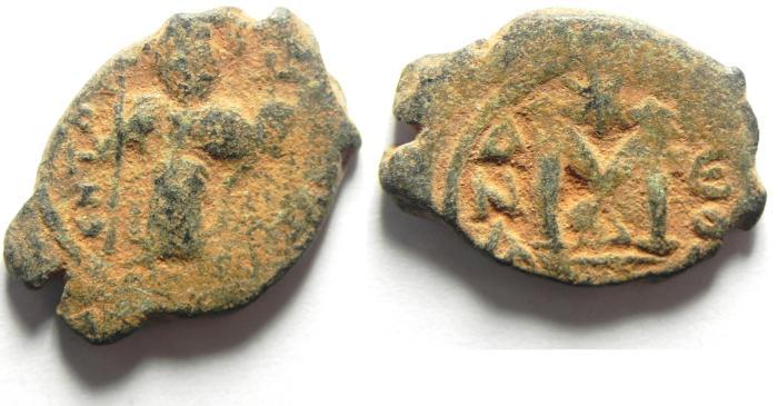 Ancient Coins - BYZANTINE , CONSTANS II AE FOLLIS