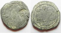 Ancient Coins - BYZANTINE. Maurice Tiberius (582-602). AE follis (30mm, 10.44g). Theupolis (Antioch) mint, uncertain officina. Struck in regnal year 16 (597/8).