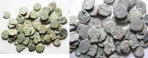 Ancient Coins - JUDAEA. AS FOUND. GROUP OF 60 WIDOW'S MITE COINS.