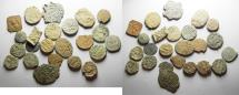 Ancient Coins - LOT OF 24 ISLAMIC. MOSTLY UMMAYYED AE FALS COINS. AS FOUND