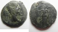 Ancient Coins - Egypt. Alexandria under Augustus (27 BC-AD 14). AE diobol (23mm , 6.73g). Struck in regnal year 42 (AD 11/12).