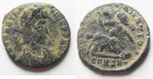 Ancient Coins - 	CONSTANTIUS II AE 3. CONSTANTINOPLE MINT