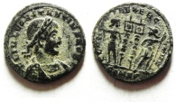 Ancient Coins - CONSTANTIUS II AE 3 , NICE AS FOUND, CONSTANTINOPLE MINT