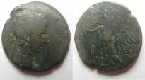 Ancient Coins - Egypt. Alexandria under Augustus (27 BC-AD 14). AE diobol (23mm , 7.67g). Struck in regnal year 42 (AD 11/12).