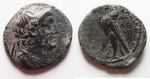 Ancient Coins - SELEUKID KINGDOM. DEMETRIUS II AE DIDRACHM. AS FOUND