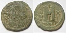 BYZANTINE. JUSTIN II & SOPHIA AE FOLLIS. ANTIOCH