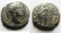 Ancient Coins - BEAUTIFULL ANTONINUS PIUS SILVER DENARIUS