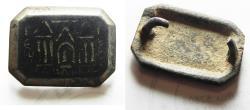 Ancient Coins - DECAPOLIS. GADARA. ROMAN BRONZE FRAGMENT, WITH CITY NAME. VERY RARE. 200 - 300 A.D