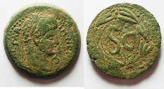 Ancient Coins - Syria. Antioch under Nero (AD 54-68). AE as (30mm, 13.81g.