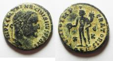 Ancient Coins - MAXIMINUS II AE FOLLIS. ALEXANDRIA MINT