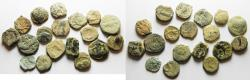 Ancient Coins - AS FOUND. IN IT'S ORIGINAL STATE: LOT OF 18 NABATAEAN BRONZE COINS