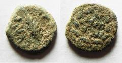 Ancient Coins - ORIGINAL DESERT PATINA: JUDAEA. Porcius Festus Procurator under Nero AE Prutah. 58/59 C.E.