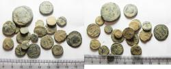 Ancient Coins - AS FOUND: LOT OF 20 ANCIENT ROMAN BRONZE COINS