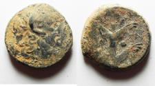 Ancient Coins - AS FOUND: KYRENAIKA, Kyrene (Koinon). Circa 250 BC. Æ 22