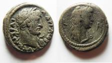 Ancient Coins - Egypt. Alexandria under Hadrian (AD 117-138). Billon tetradrachm (22mm, 13.14g). Struck in regnal year 8 (AD 123/124).
