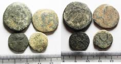 Ancient Coins - LOT OF 4 PROVINCIAL AE COINS FROM THE HOLY LAND