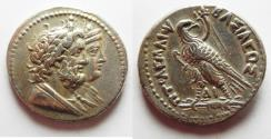 Ancient Coins - PTOLEMAIC KINGS of EGYPT. Ptolemy IV Philopator. 222-205/4 BC. AR Tetradrachm
