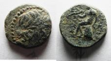 Ancient Coins - SELEUKID. ANTIOCHOS III AE 14