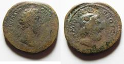 Ancient Coins - VERY RARE IN THIS LARGE SIZE: CYRENAICA, Cyrene. Marcus Aurelius. AD 161-180. Æ 31mm