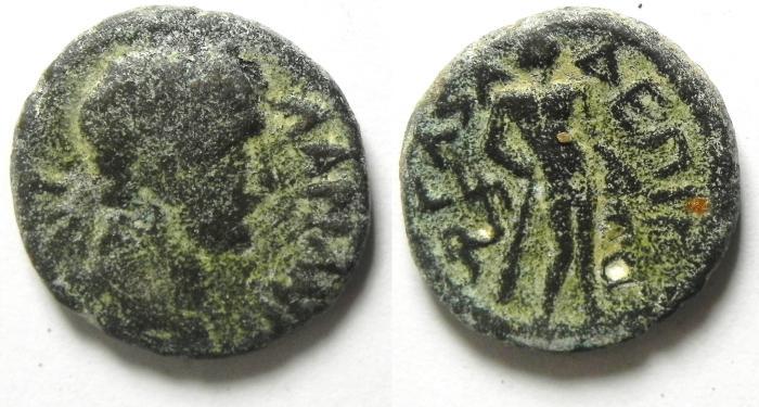 Ancient Coins - JUDAEA GAZA  , HADRIAN AE 17