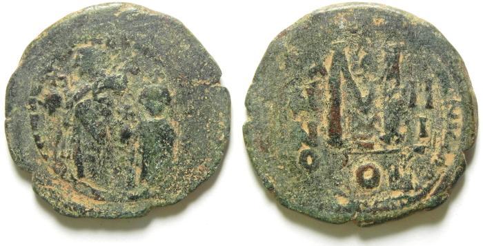 Ancient Coins - BYZANTINE : HERACLIUS FOLLIS , 32 MM