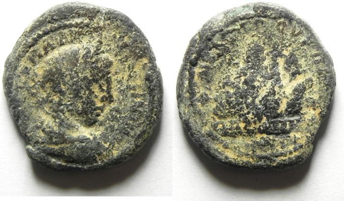 Ancient Coins - SAMARIA , NEAPOLIS, ELAGABALUS AE 25