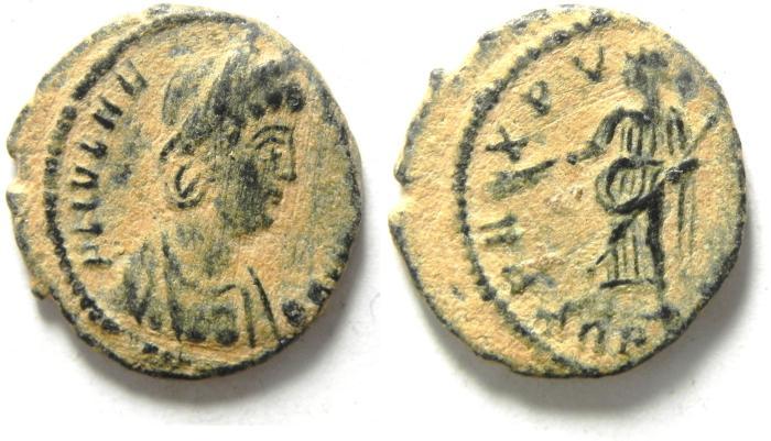 Ancient Coins - HELENA AE 4 , NICE DESERT PATINA