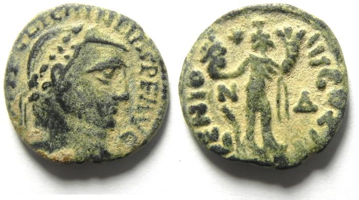Ancient Coins - BEAUTIFULL BARBARIC IMITATION OF LICINIUS I FOLLIS