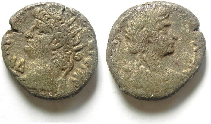 Ancient Coins - NERO AR billon tetradrachm. Alexandria mint