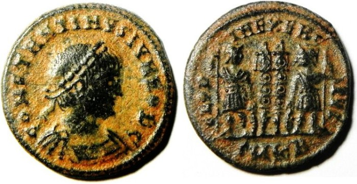 Ancient Coins - CONSTANTINE II AE 3 , NICE