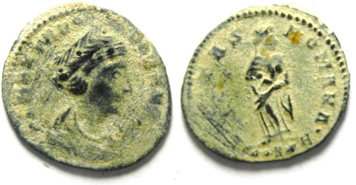 Ancient Coins - THEODORA , NICE AE 3 AS FOUND