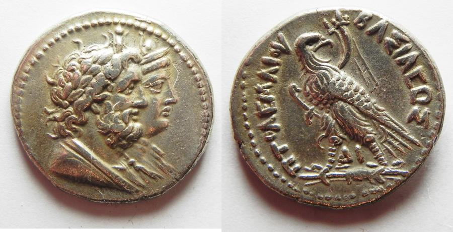 Ancient Coins - PTOLEMAIC KINGS of EGYPT. Ptolemy IV Philopator. 222-205/4 BC. AR Tetradrachm