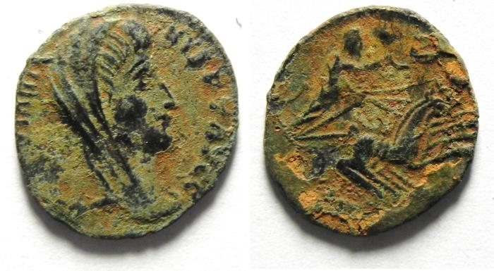 Ancient Coins - CONSTANTINE I , POSTHUMOUS AE 15 , AS FOUND