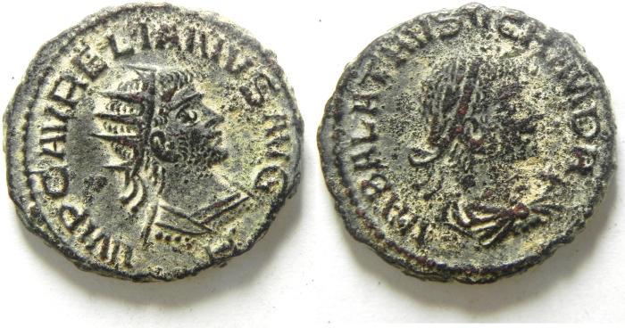 Ancient Coins - BEAUTIFULL AURELIAN AND VABALATHUS AE ANTONINIANUS