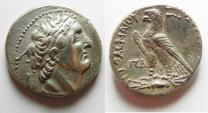 Ancient Coins - Egypt. Ptolemaic kings. Ptolemy VI Philometor (first sole reign, 180-170 BC). AR tetradrachm (26mm, 14.28g) Uncertain Cypriote or Phoenician mint. Struck in era year 84 (179/8 BC).