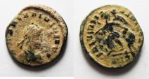 Ancient Coins - BEAUTIFUL AS FOUND. ARCADIUS AE 4 . DESERT PATINA