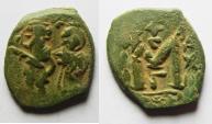 Ancient Coins - BYZANTINE. Heraclius. 610-641. Æ follis.