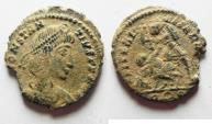 Ancient Coins - CONSTANTIUS II AE 3. AS FOUND. ROME MINT