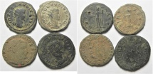 LOT OF 4 ROMAN AE COINS