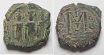 Ancient Coins - ARAB-BYZANTINE AE FILS. TIBERIAS MINT